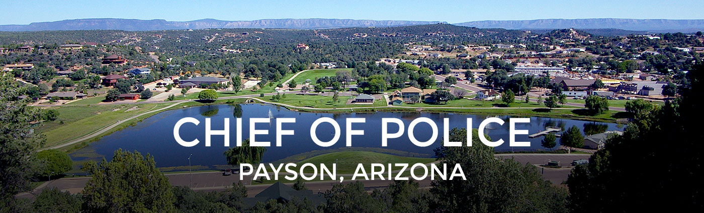 Chief of police job posting for Payson Arizona