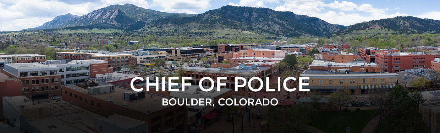 Chief of Police Boulder, CO
